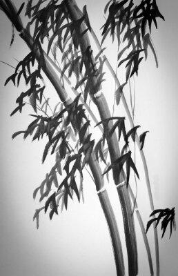 Väggdekor bambuträd