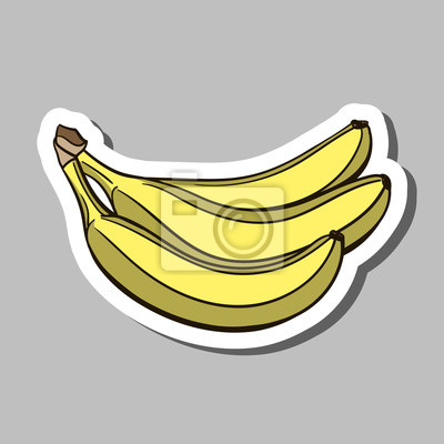 Väggdekor banan klistermärke