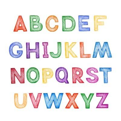 Väggdekor Barn tecknade ABC