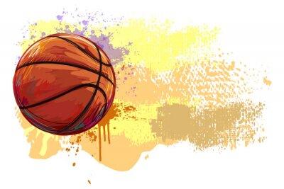 Väggdekor Basket Banner. Alla delar är i separata lager och grupperas.