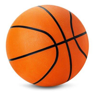 Väggdekor basket boll isolerad på den vita bakgrunden