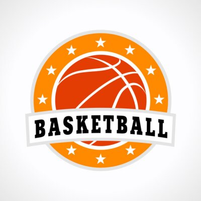 Väggdekor Basket emblem logotyp