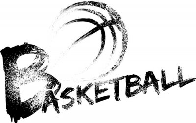 Väggdekor Basket Grunge Ränder