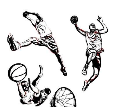 Väggdekor basket trio