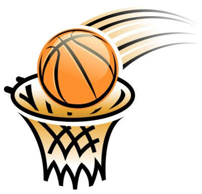 Väggdekor basketkorgen symbol