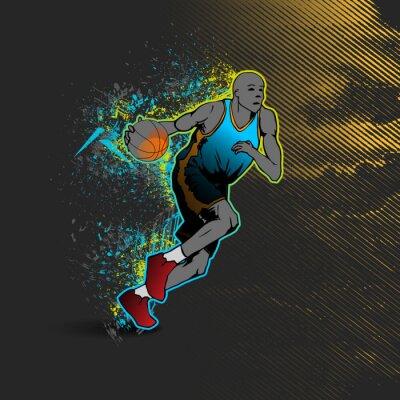 Väggdekor Basketspelare dribbla bollen