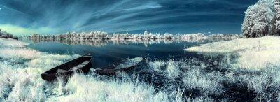 Väggdekor båtar på floden