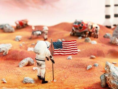Väggdekor Bemannade Mars mission