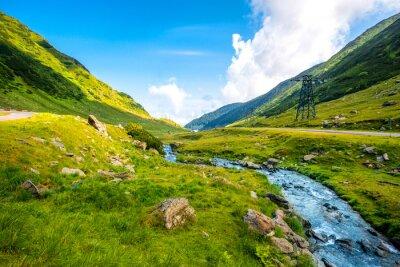 Väggdekor berg flod