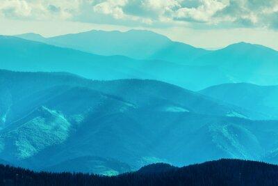 Väggdekor Bergskedja i sommar