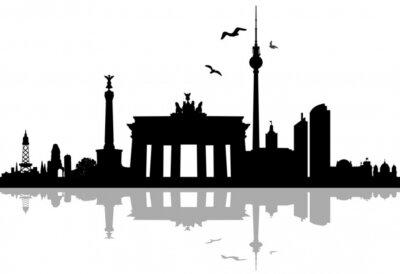 Väggdekor Berlin horisont silhuett