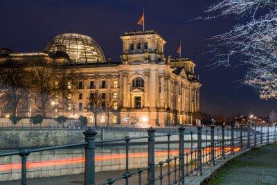 Väggdekor Berlin Reichstag på natten