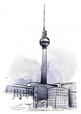 Väggdekor Berlin skissar
