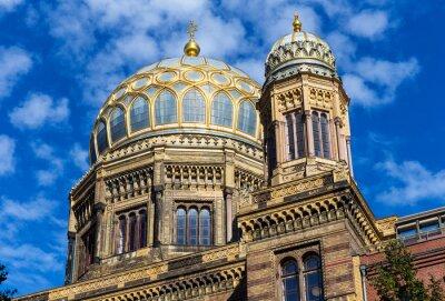 Väggdekor Berlin synagoga i stadsdelen Mitte