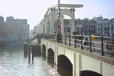 Väggdekor Berömda Skinny Bridge, Amsterdam