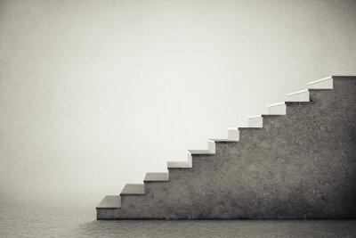 Väggdekor betong trappor