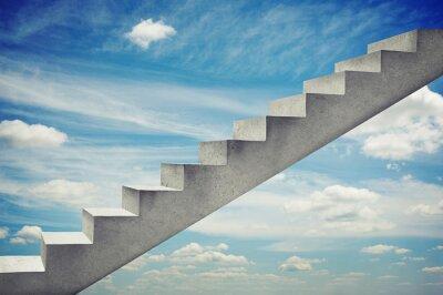 Väggdekor betong trappor över blå himmel