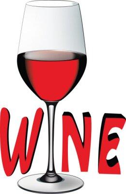 Väggdekor bicchiere di vino rosso