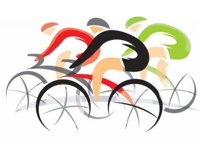 Väggdekor Bicycle Race