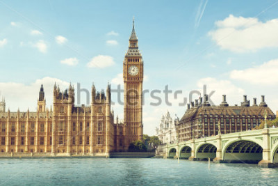 Väggdekor Big Ben in sunny day, London