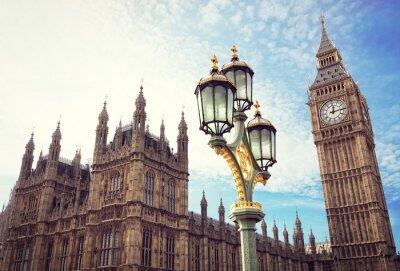 Väggdekor Big Ben och Houses of Parliament i London