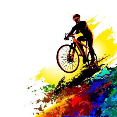 Väggdekor Biker sport. Vektor illustration