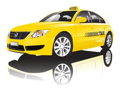 Väggdekor Bil Cab taxi Public Skinande Performance Concept