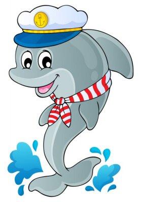 Väggdekor Bild med delfin tema 1