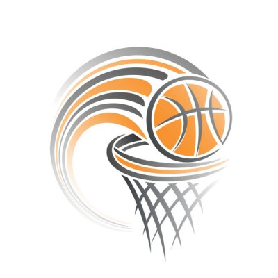 Väggdekor Bilden av en basketboll