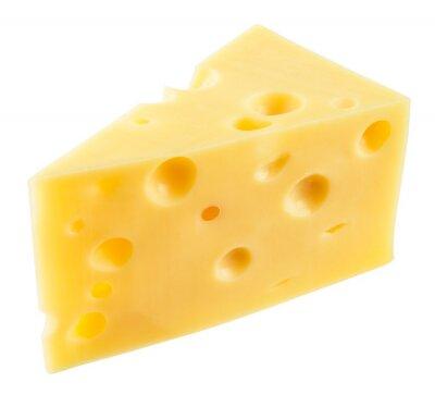 Väggdekor Bit ost isolerade. Med urklippsbana.