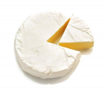Väggdekor bit ost ost isolerad på vitt
