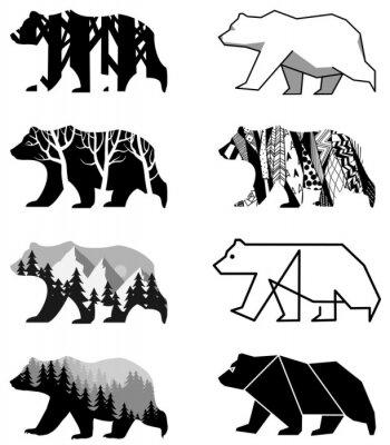 Väggdekor björnar inställd