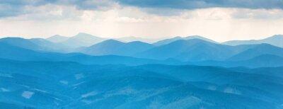Väggdekor blå bergen