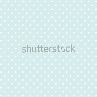 Väggdekor blå polka dot v2 bakgrund