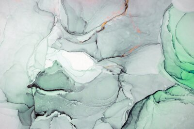 Väggdekor Bläck, färg, abstrakt. Närbild på målningen. Färgrik abstrakt målning bakgrund. Mycket texturerad oljemålning. Högkvalitativa detaljer. Alkohol bläck modern abstrakt målning, modern samtida konst.