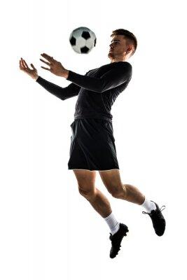 Väggdekor Blont man spelar fotboll