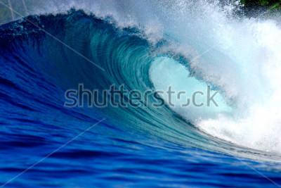 Väggdekor Blue surfing wave
