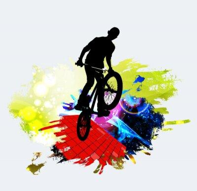 Väggdekor BMX-hoppare under trick hopp