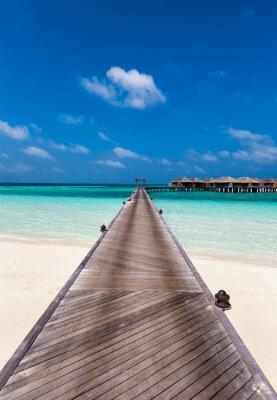 Väggdekor Boardwalk till lagunen i Maldiverna