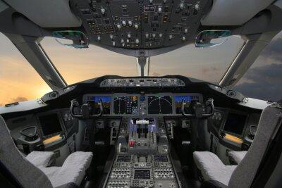 Väggdekor Boing 787 Dreamliner, Cockpit