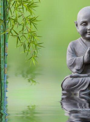 Väggdekor Bouddha enfant et bambou aquatique, sammansättning zen