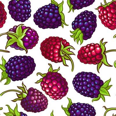 Väggdekor boysenberry vector pattern