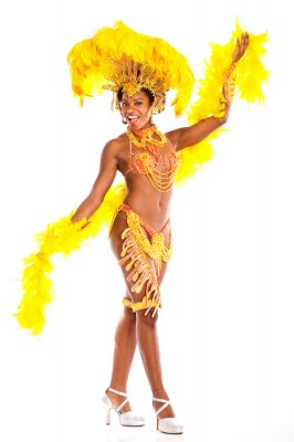 Väggdekor Brasiliansk samba dancer