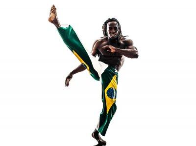 Väggdekor Brasiliansk svart man dansare capoeira silhuett