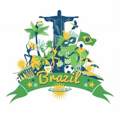 Väggdekor Brasilien bakgrund