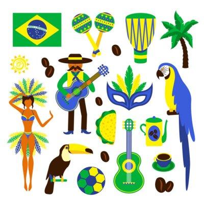Väggdekor Brasilien dekorativa uppsättning