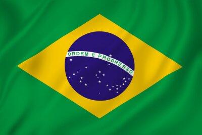 Väggdekor Brasilien flagga