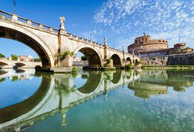 Väggdekor Bridge och slott Sant Angelo, Rom