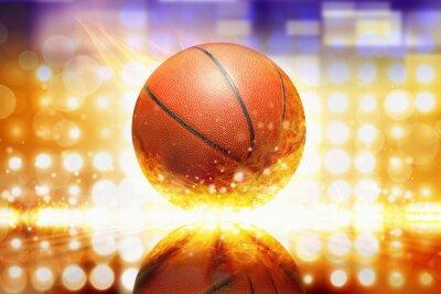 Väggdekor brinnande basket