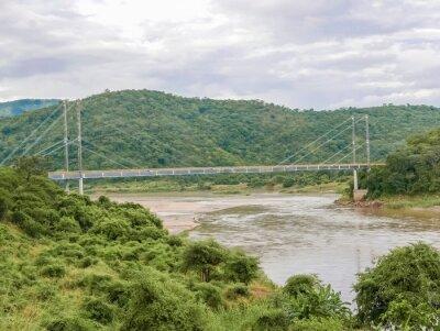 Väggdekor Bro över Luangwa floden i Zambia